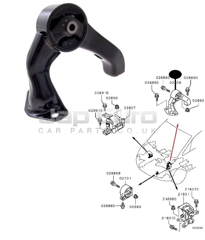 For MITSUBISHI LANCER OUTLANDER CW CY 06-12 FRONT ENGINE SUPPORT MOUNT  MT//CVT