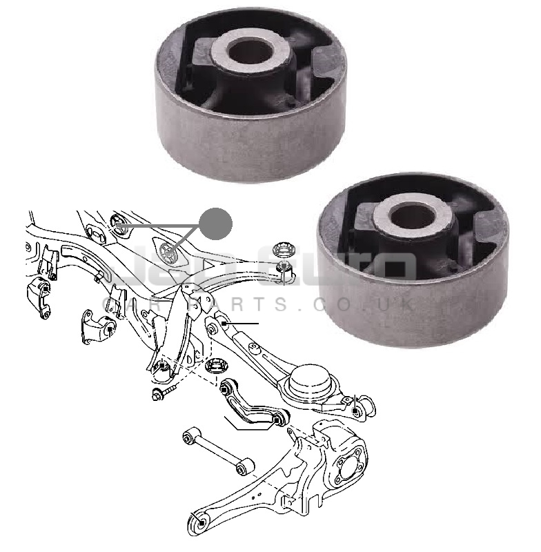 2007 Mazda Cx 9 Suspension: FOR MAZDA CX9 CX-9 06-12 REAR SUBFRAME CROSS MEMBER BUSHES