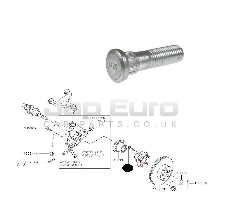 Mk2 02-10 Open Ended Locking Wheel Nuts 12x1.25 Bolts for Nissan Elgrand