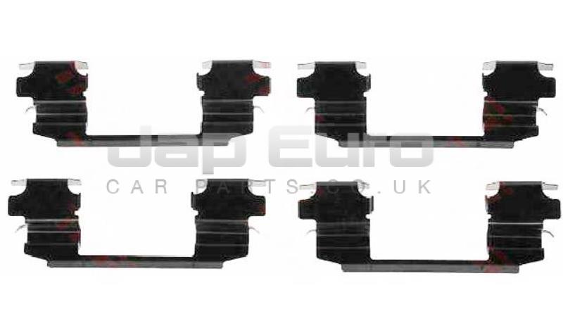 Front Brake Pad Fitting Kit Nissan Elgrand E51 VQ25DE 2.5i 2004-2010