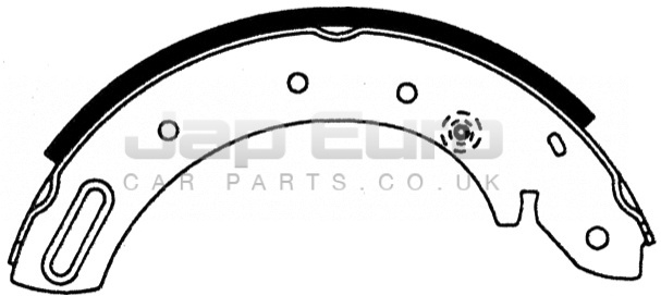 Brake Shoe Set - Rear Nissan Serena C23 LD20 2.0 D LX SLX 4Dr 1993 -1995