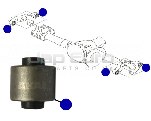 Arm Bushing Differential Mount Nissan Elgrand E50 ZD30DTTi 3.0 TD 1999-2001