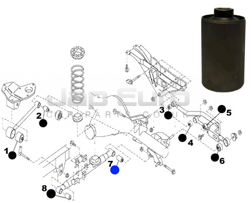 Arm Bushing For Lower Lateral Control Rod Nissan Elgrand E50 ZD30DTTi 3.0 TD 1999-2001