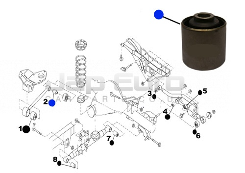 Arm Bushing For Upper Lateral Control Rod Nissan Elgrand E50 ZD30DTTi 3.0 TD 1999-2001