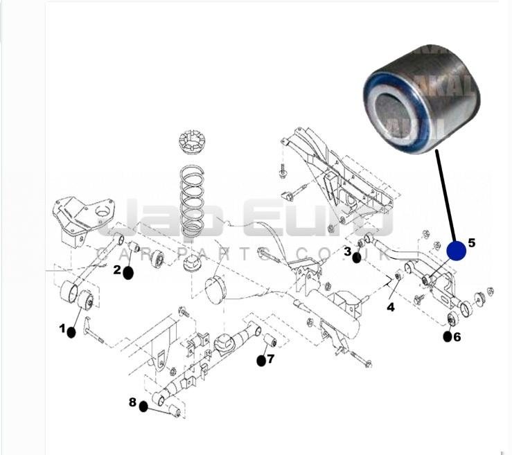 Arm Bushing For Rear Rod Nissan Elgrand E50 ZD30DTTi 3.0 TD 1999-2001