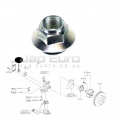 FRONT WHEEL HUB  FLANGE NUT