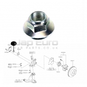 Front Wheel Bearing Locking Nut